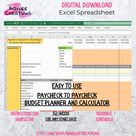 Annual Budget  Weekly  Download  Fill In Excel Spreadsheet   Etsy