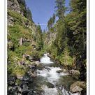 A2 Poster. Riesachfaelle waterfalls, Schladminger Tauern
