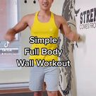 Beginner Full Body Wall Workout Routine