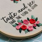 PDF Embroidery Pattern Christian Bible Verse Psalms Instant Download Hand Embroidery Pattern