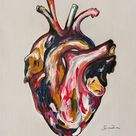 Original Body Painting by Sarah Wolfe | Expressionism Art on Wood | MultiHeart 59