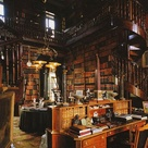Library at Château de Groussay in France
