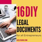 16 DIY Legal Documents For All Entrepreneurs