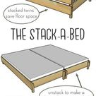 The Stack-a-Bed (converts from twin to king!)