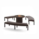 Sorrento 4-Piece Bench Firepit Chat Set