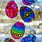 Easter Egg Suncatchers