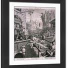Large Framed Photo. Gin Lane, 1751. Artist: William Hogarth