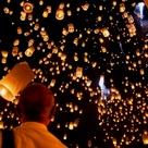 Flying Paper Lanterns