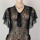 Vintage 20s 30s Art Deco Black Lace Dress   Etsy