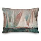 Longshore Tides Sailboat Painting Indoor/Outdoor Throw Pillow Pink 14.0 x 20.0 x 1.5 in   Wayfair Canada