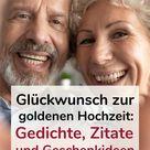 Glückwunsch zur goldenen Hochzeit: Gedichte, Zitate und Geschenkideen