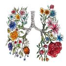 'Lung Anatomy and Flowers Art ' by Terouz