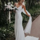 Simple Mermaid Spaghetti Straps Cheap Wedding Dresses Online, Cheap Bridal Dresses, WD628   US0 / Custom Colorleaving a note
