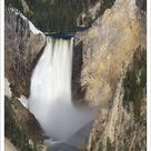 A1 Poster. WY, Yellowstone National Park, Lower Yellowstone Falls, Grand Canyon of the Yellowstone