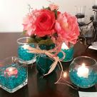 Teal Centerpieces