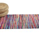 Handmade Chindi Rug from Recycled Natural Cotton Fabric by Allure