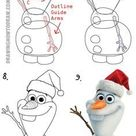 How to Draw Olaf with Santa Claus Hat On Step by Step Drawing Tutorial   How to Draw Step by Step Drawing Tutorials