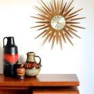 RESERVED  Seth Thomas 1960s Starburst Wall Clock   Etsy