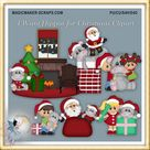 Christmas Clipart, Hippo Holiday Gifts and Kids