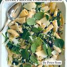 Peter Som's Baked Goat Cheese Pasta with Leeks, Pancetta, Peas and Spinach