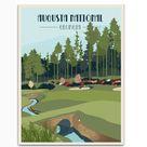Augusta National Golf Club, Masters Golf, Golf Gifts for Women, Golf Gifts For Men, gift for Boyfriend, Golf Art, Retro Golf Masters Golf