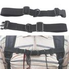 Adjustable Outdoor Chest Strap Sternum Harness Webbing Buckled Nylon With Whistle Backpack Accessories Anti Slip   China / black