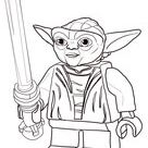Lego Star Wars Master Yoda coloring page | Free Printable Coloring Pages