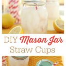 Mason Jar With Straw