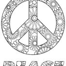 Peace Symbol   Zen and Anti stress Coloring Pages for Adults   Just Color