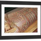 Framed Photo. Detail of a canopic coffin from the Tomb of