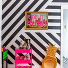 Home tour of a Maximalist Rented Apartment Decorated with Contact paper - How I Rent