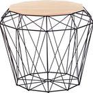 Beliani ELIDA - Bijzettafel - Lichte houtkleur - Hout