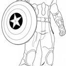 Coloriage Captain America Avengers Age Of Ultron dessin gratuit à imprimer