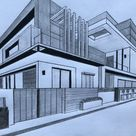 How to Draw a House in Two Point Perspective Step by Step