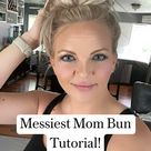 Messiest Mom Bun Tutorial! @daphnie.pearl