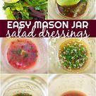 EASY Vinaigrette Recipes  MASON JAR Salads, Homemade Dressing