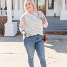 It's A Spring Thing Striped Top - 2XL