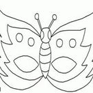 Kleurplaat Vlinder masker kleurplaten