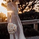 Sexy V Neck Cheap Wedding Dresses With Sequins ,Cheap Wedding Gowns,W0024