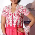 Sonakshi Sinha in dark pink lengha dress