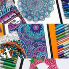 20+ Free Coloring Pages for Adults | Free Printables and Coloring Pages By Sarah Renae Clark