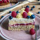 Farbenfrohes für den Kaffeetisch - Lemon-Curd-Torte mit Tonka-Mascarpone - mitliebezurtorte