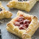 Berry and Cream Cheese Puff Pastries (Step by Step Photos) | Foodtasia