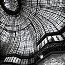 Paris Black and White  Paris Printemps stained glass 24x36 | Etsy