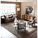 rustic lounge room industrial style