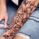 tattoo ideas female arm flowers