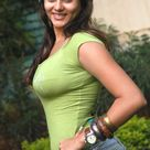 Namitha Kapoor in Green tight T-Shirt and Blue Jeans