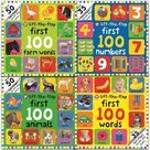 First 100 Lift-the Flap Books Series Collection 4 Books Set Animals, Numbers