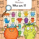 Reading Riddles   Monsters   Who am I englische Leserätsel