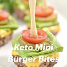 Keto Mini Burger Bites ❤️
